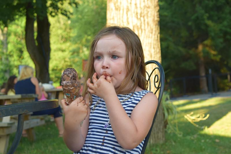 enjoying ice cream after Dancing at Dusk at Caramoor