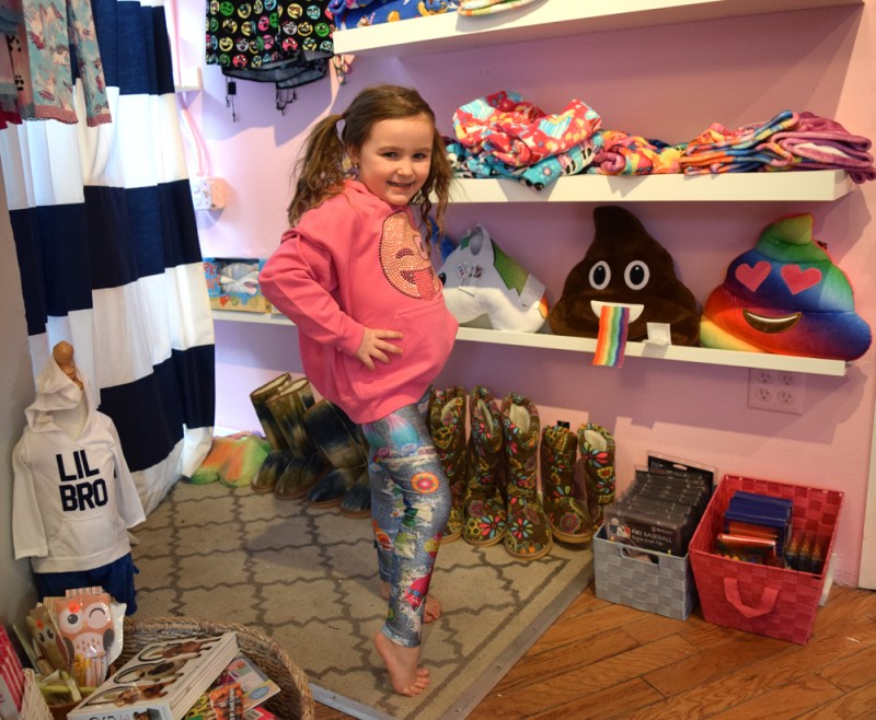 Emoji sweatshirt and leggings at Wyatt Lily