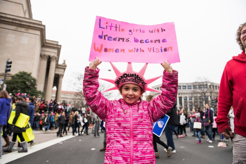's March Signs | little girls with dreams become women with vision via Huffington Post