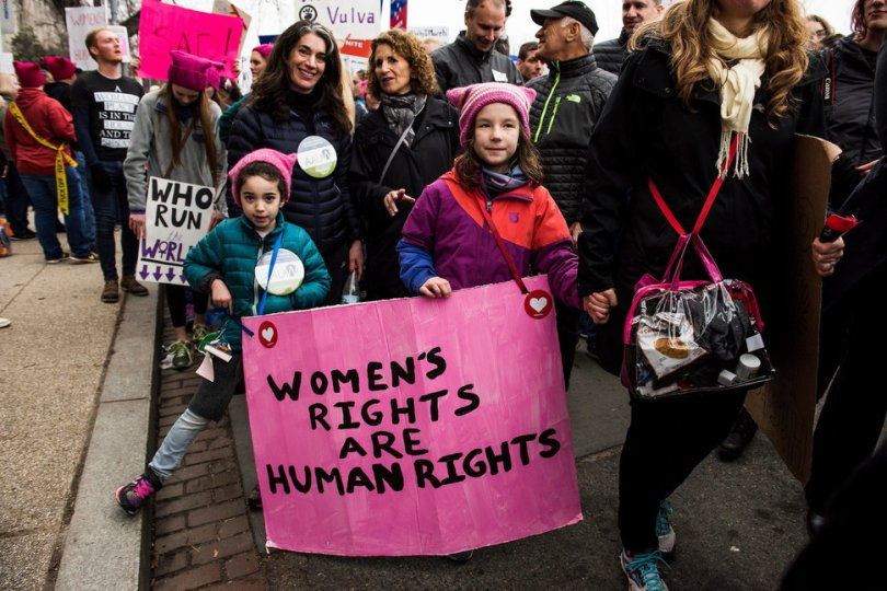 Best Women's March signs | women's rights are human rights via Huffington Post