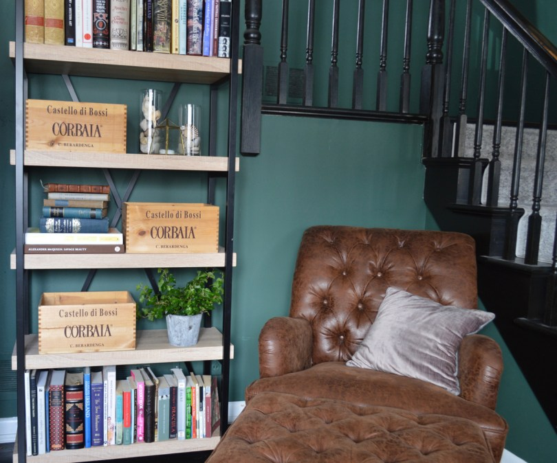 Organizing with wine crates