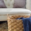 decluttering hacks: using baskets to organize
