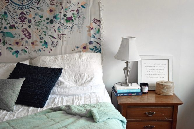 master bedroom refresh bohemian hygge