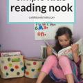 simple kids reading nook #kidsdecor #kidsroom