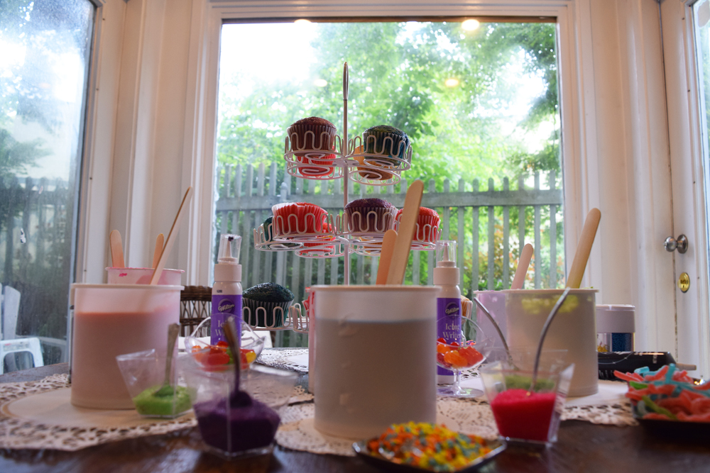 Cupcake Wars birthday party tip: figure out themes for each challenge and then think about toppings