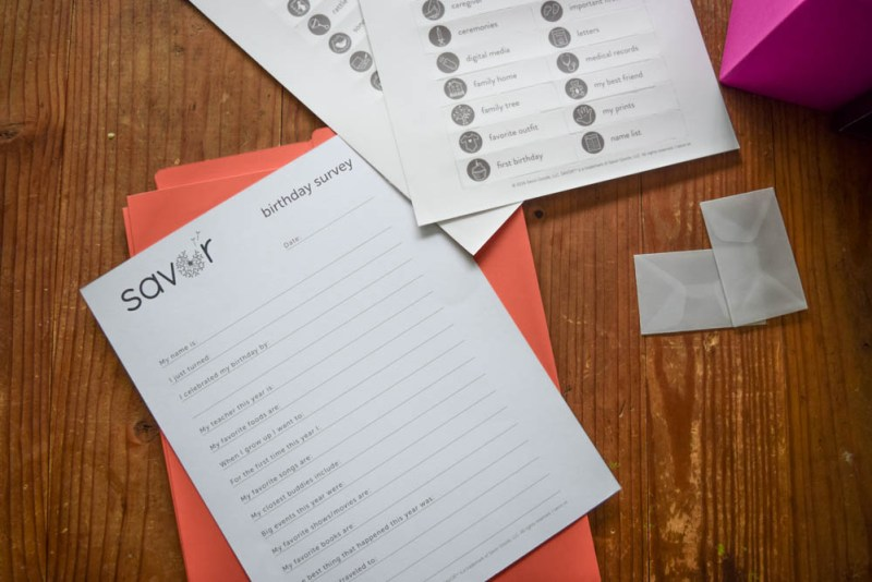 Savor birthday survey - family memory keeping