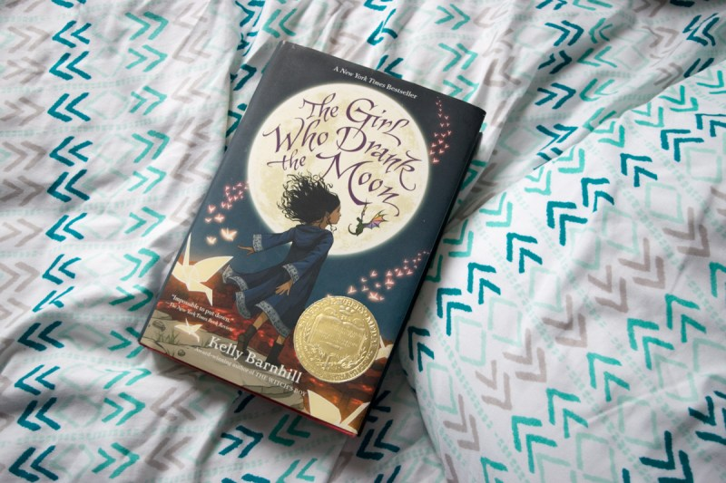On Our Bookshelf January 2018 - The Girl Who Drank the Moon