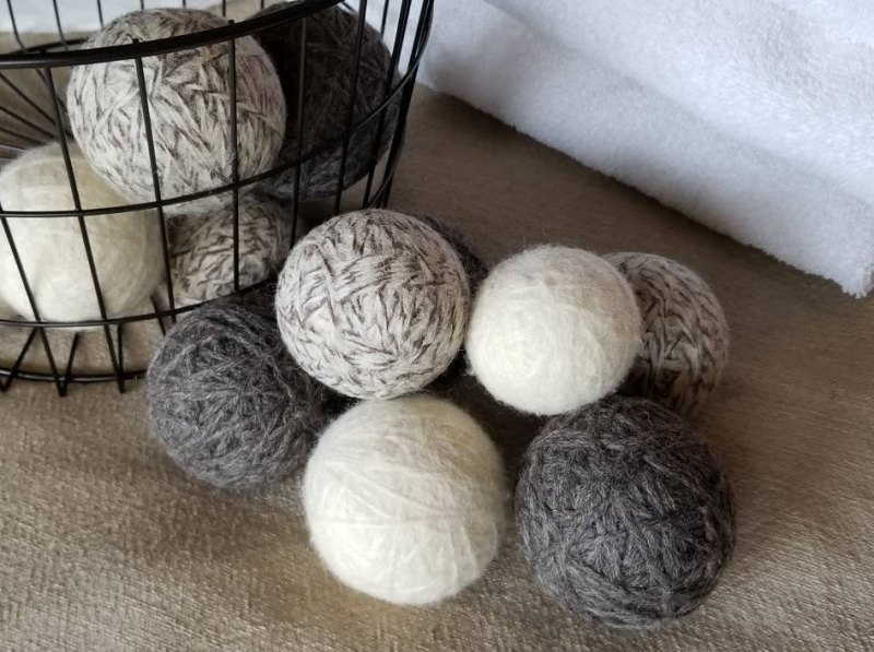 9 Handmade Products That Will Help Your Family Produce Less Waste - Comfy Mountain wool dryer balls