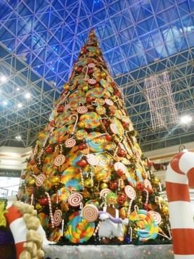 Candy themed tree at Wafi Mall