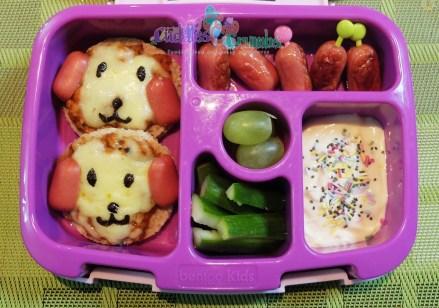 Pizza Puppy Dog bento box