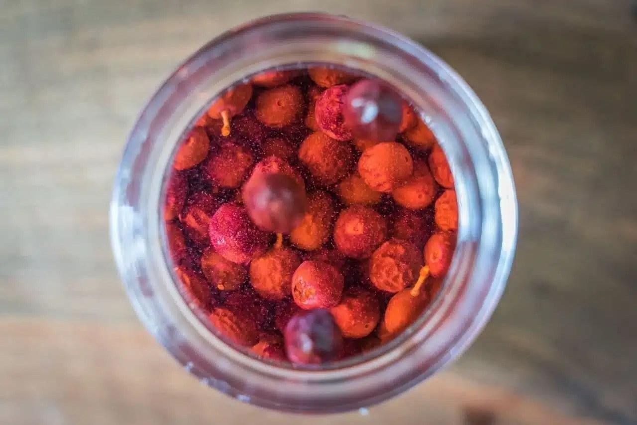 Prunelles fermentées