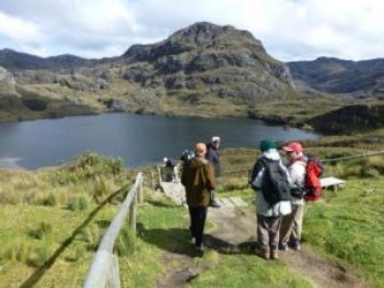 Hikers in the Cajas Mountains.