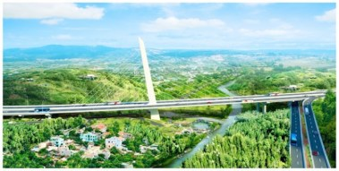 Rendering of a bridge on proposed freeway that would circle Cuenca.