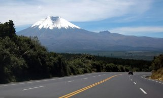 New highway south of Quito.