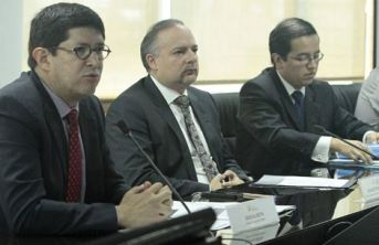 Ecuador trade minister Diego Aulestia met with business leaders on Monday.