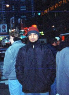 Diego in Times Square, 2002.