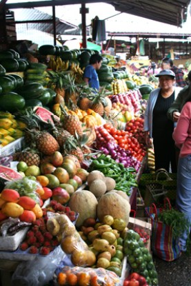 A Cuenca mercado overflows with home-grown produce.