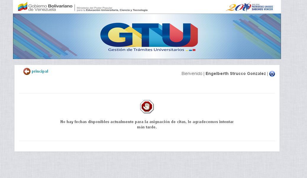 Citas GTU sin fechas