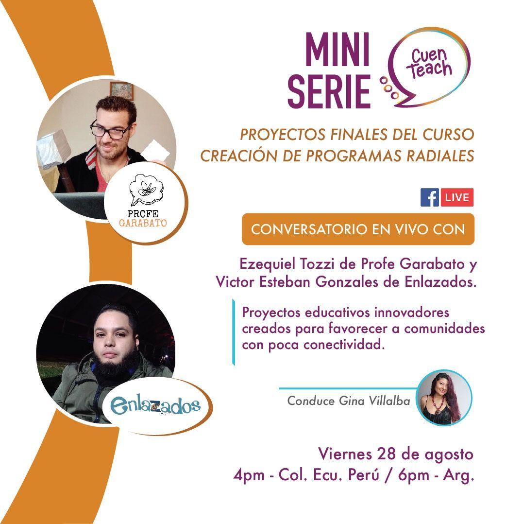 Facebook Live con Enlazados, Profe garabato y CuenTeach