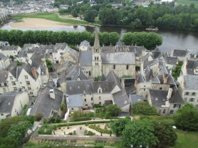 View from Chateaux on village