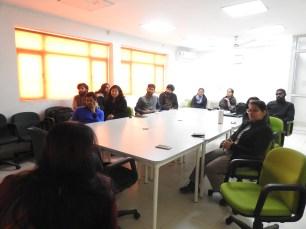 Orientation session at AUD, Kashmere Gate Campus headed by Prof Geetha Venkataraman (Credit: Fizala Tayebulla)