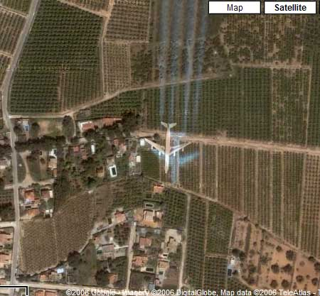 Lugares de interes en Google Earth 10