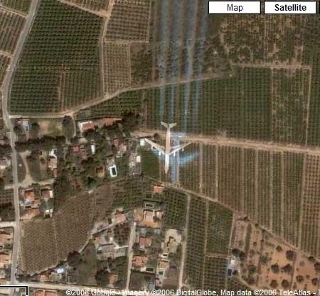 Lugares de interes en Google Earth 10