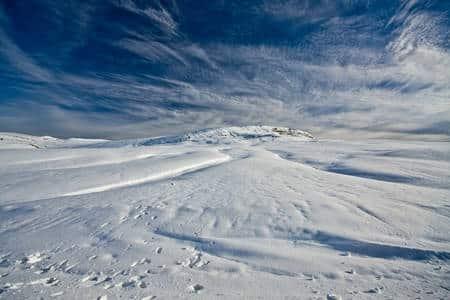 montaña gudar nieve