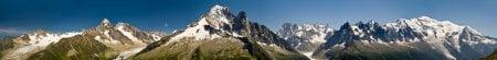 Panoramica del macizo del Montblanc