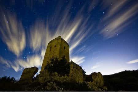 Fotografia nocturna en Llombai, castillo de Alédua 1