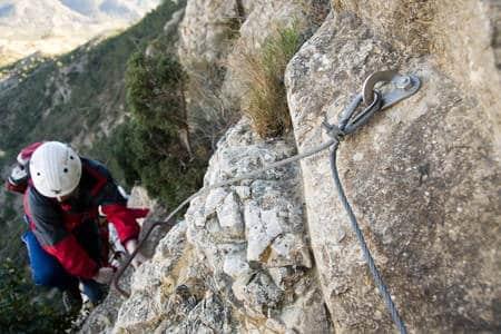 Via ferrata del Cid, subida al pico La Silla del Cid 6
