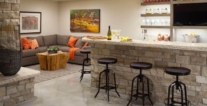 small basement ideas with bar