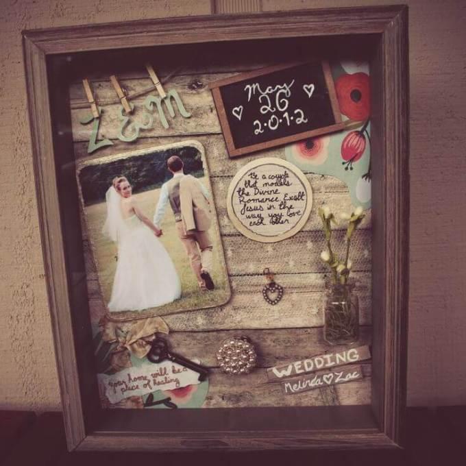 shadow box ideas for wedding