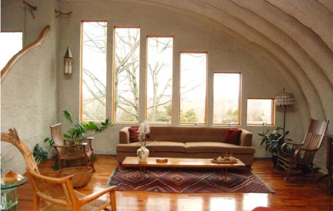 Quonset hut house interior