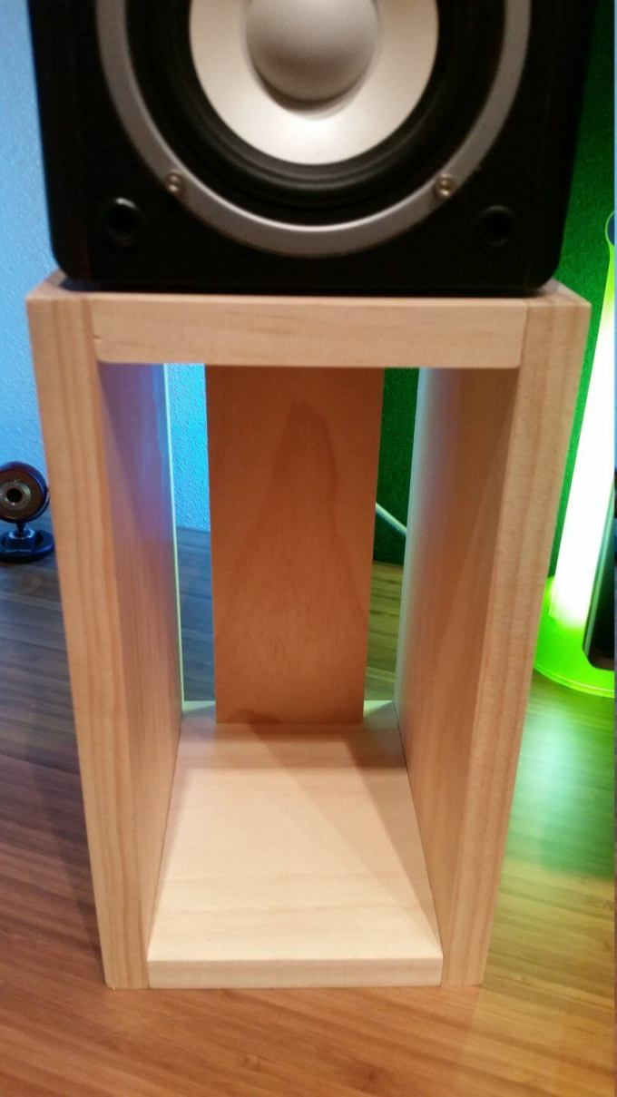 Wooden Audiophile Speaker Stands (Pair Qty 2, One Right & One Left)