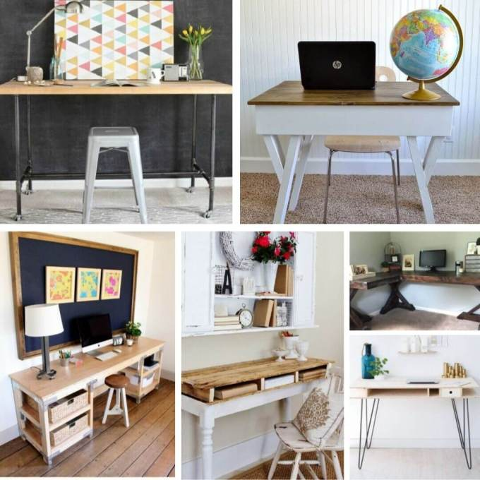Reclaimed-wood desk