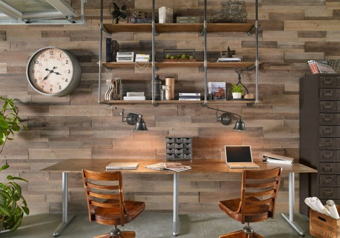 industrial home office style