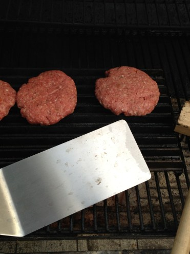 Beef Burgers on the ManGrate