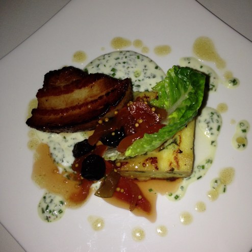 Pork Belly Bread Pudding from Grant Grill