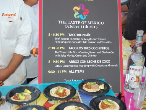 Loteria Grill at The Taste of Mexico 3rd Annual Food Event