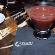Spicy Acai Martini (made with Veev Spirit) at NOBU