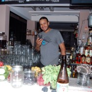 Ronnie, the bartender at The Basement Tavern