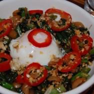 Poached Farm Egg at Formosa Café