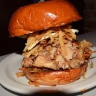 Asian Pork Belly Burger at Slater's 50/50