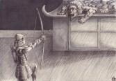 Yorimasa contra el dragón