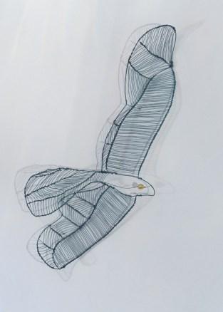 """""""Lone Falcon of Glenmalure"""" Dimensions: 70 x 30 x 10cm"""