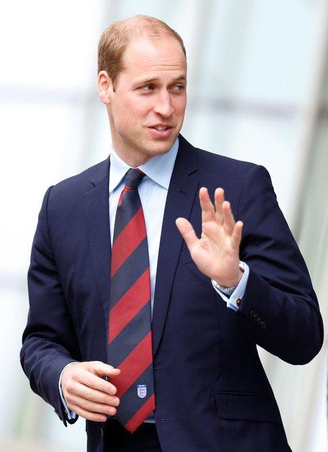 Prince William with cufflinks