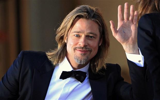 Brad Pitt with cufflinks