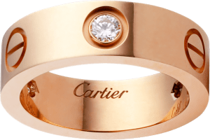 cartier PINK GOLD LOVE RINGS FOR MEN