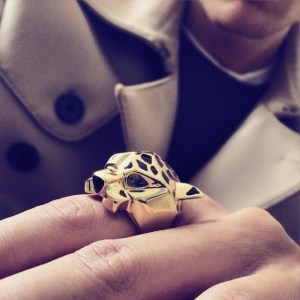 cartier panther gold rings for men